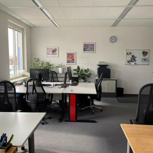 Das Bild zeigt einen Ausschnitt aus dem techmatrix Büro in Haar bei München