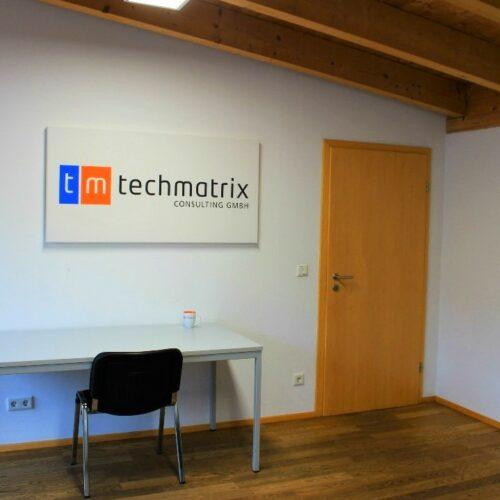 Das Bild zeigt den Eingang eines Büroraumes am Standort in Ingolstadt