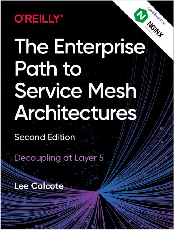 """NGINX E-Book zum Thema """"Der Unternehmensweg zu Service-Mesh-Architekturen""""."""