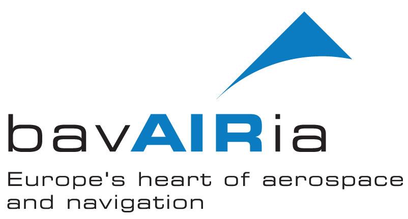 Das Logo von bavAIRia in den offiziellen Farben blau und schwarz