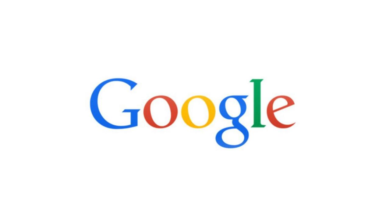Google Logo 2013 - der Beginn des flachen Designs. Der 3D Effekt sowie die Farbverläufe wurden komplett entfernt.