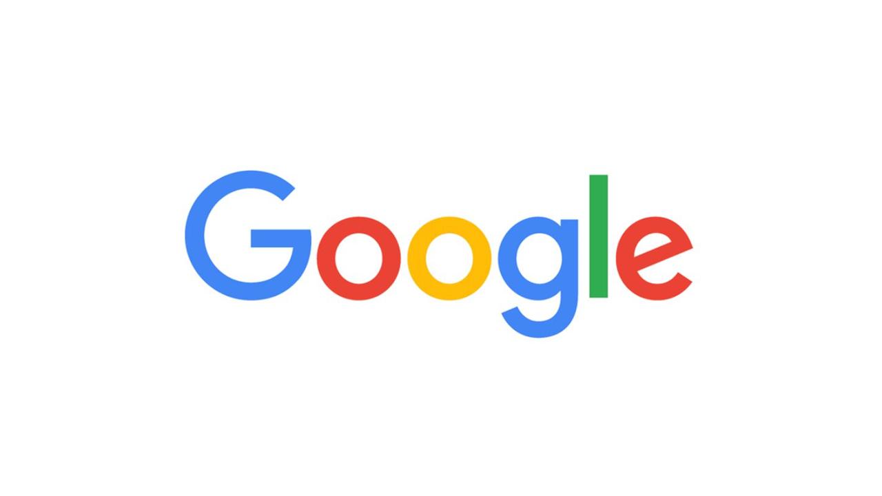 Google Logo seit September 2015 - die Schriftart des Logos wurde geändert und alle Buchstaben haben die selbe Linienbreite erhalten.
