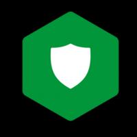 Das Icon von NGINX App Protect im offiziellen NGINX grün auf schwarzem Hintergrund.