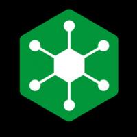 Das Icon vom NGINX Controller im offiziellen NGINX grün auf schwarzem Hintergrund.